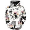 3D ALL OVER BLACK CATS WITH FLOWERS IN FRONT OF HOUSES CLOTHES 4920204