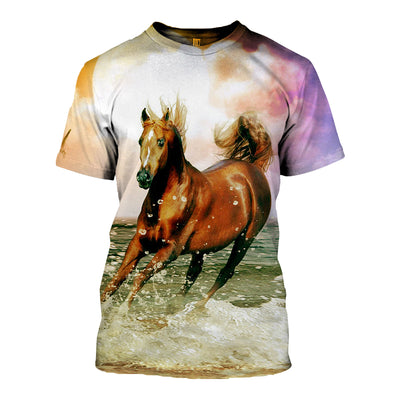 3D All Over Printed Horse T Shirt Hoodie 181201