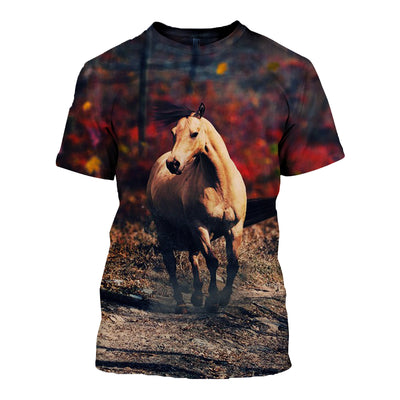 3D All Over Printed Horse T Shirt Hoodie 181204