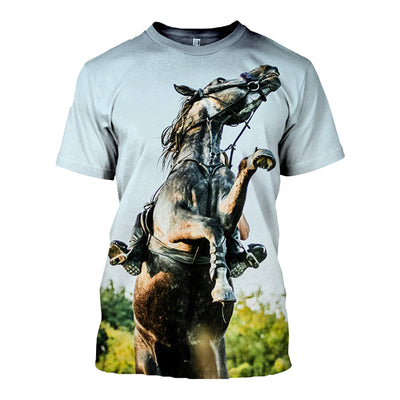 3D All Over Printed Horse T Shirt Hoodie 181205