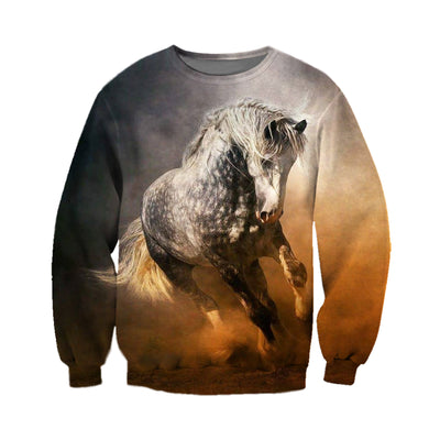3D All Over Printed Horse T Shirt Hoodie 181207