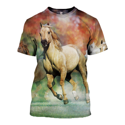 3D All Over Printed Horse T Shirt Hoodie 181208