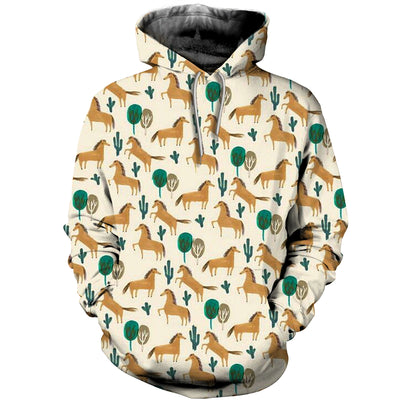3D All Over Printed Horse T Shirt Hoodie 1812014