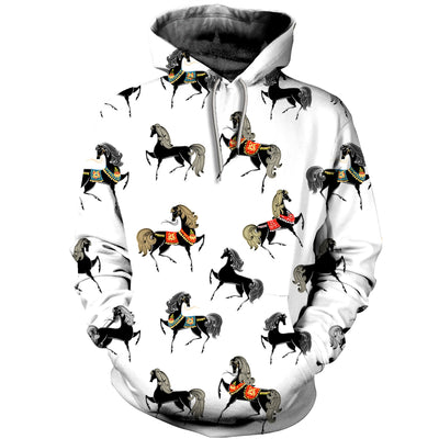 3D All Over Printed Horse T Shirt Hoodie 1812016