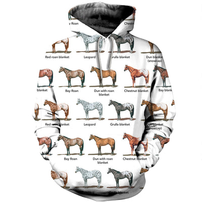3D All Over Printed Horse T Shirt Hoodie 1812017