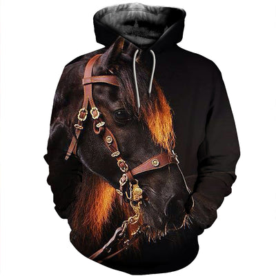 3D All Over Printed Horse T Shirt Hoodie 1812020