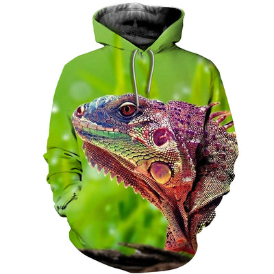 3D All Over Printed Iguana T Shirt Hoodie 070101