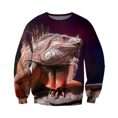 3D All Over Printed Iguana T Shirt Hoodie 070104
