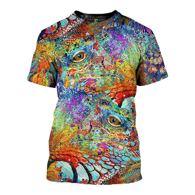 3D All Over Printed Iguana T Shirt Hoodie 070106