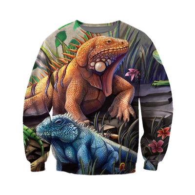 3D All Over Printed Iguana T Shirt Hoodie 0701012