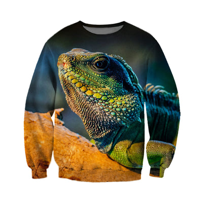 3D All Over Printed Iguana T Shirt Hoodie 0701013