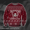 I Am Not Complete KNITTING PATTERN 3D PRINT UGLY CHRISTMAS SWEATER