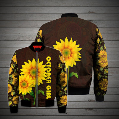 OCTOBER GIRL SUNFLOWER 3D FULL OVER PRINTED CLOTHES