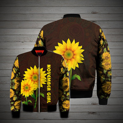 NOVEMBER GIRL SUNFLOWER 3D FULL OVER PRINTED CLOTHES