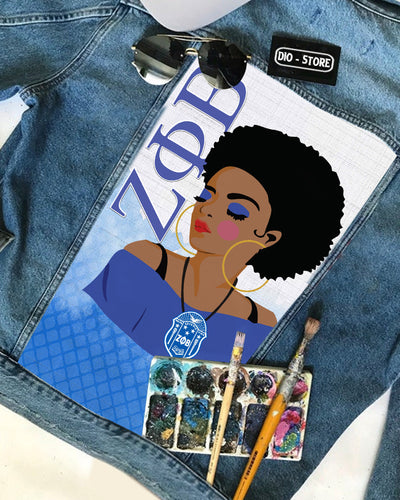 ZETA PHI BETA Customized denim Jacket