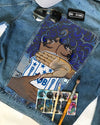 CUSTOM DENIM JACKET WITH ZETA PHI BETA DENIM JACKET