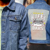 BIKER LIFE BEHIND BARS DENIM JACKET
