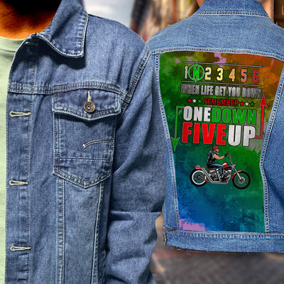 BIKER Men's Premium Fashion Denim Jacket