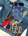 KAP DENIM JACKET with Starry night painting