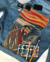 KAP CUSTOMIZED DENIM JACKET with THE SCREAM painting
