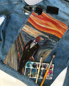 OPP CUSTOMIZED DENIM JACKET with THE SCREAM painting