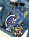 Phi Beta Sigma DENIM JACKET with Van Gogh Starry night painting