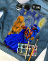 SGR DENIM JACKET with famous painting Starry night
