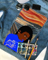 SGR Customized DENIM JACKET WITH THE SCREAM PAINTING
