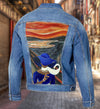 ZPB Customized denim Jacket WITH THE SCREAM PAINTING