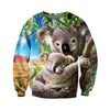 3D All Over Printed Koala T Shirt Hoodie 191225