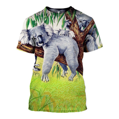 3D All Over Printed Koala T Shirt Hoodie 19125