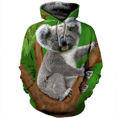 3D All Over Printed Koala T Shirt Hoodie 19127