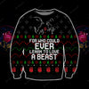 Learn To Love A Beast KNITTING PATTERN 3D PRINT UGLY CHRISTMAS SWEATER