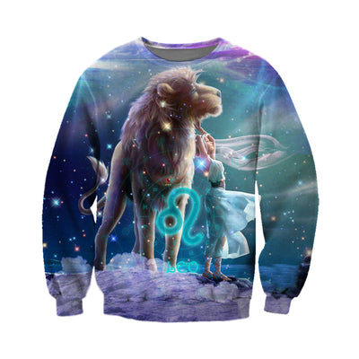 3D All Over Printed Leo Zodiac T Shirt Hoodie 221203