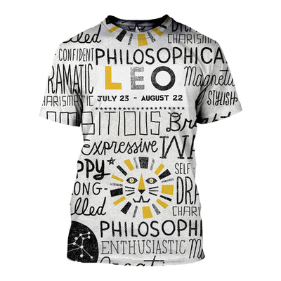 3D All Over Printed Leo Zodiac T Shirt Hoodie 221209
