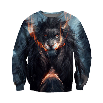 3D All Over Printed Lion T Shirt Hoodie 1214