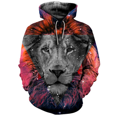3D All Over Printed Lion T Shirt Hoodie 12142