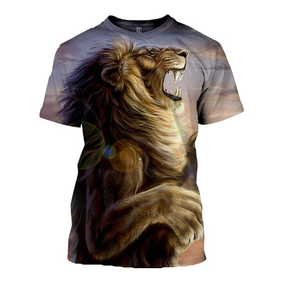 3D All Over Printed Lion T Shirt Hoodie 12145
