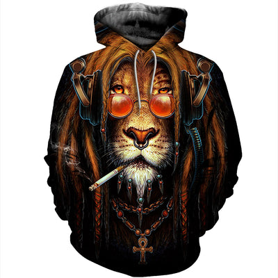 3D All Over Printed Lion T Shirt Hoodie 12146