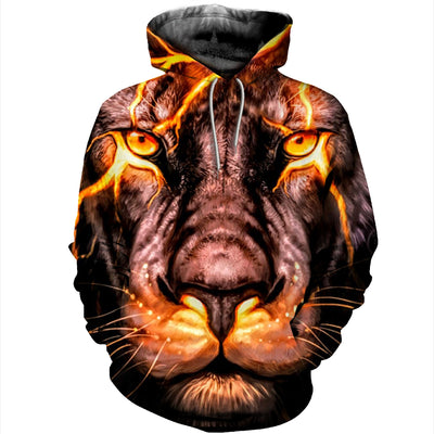 3D All Over Printed Lion T Shirt Hoodie 12147