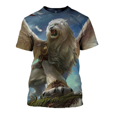 3D All Over Printed Lion T Shirt Hoodie 12148