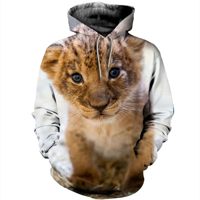 3D All Over Printed Lion T Shirt Hoodie 12149