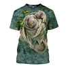 3D All Over Printed Manatee T Shirt Hoodie 201210