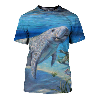 3D All Over Printed Manatee T Shirt Hoodie 201213