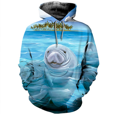 3D All Over Printed Manatee T Shirt Hoodie 201214