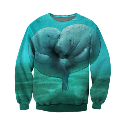 3D All Over Printed Manatee T Shirt Hoodie 201220