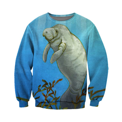 3D All Over Printed Manatee T Shirt Hoodie 20126