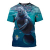 3D All Over Printed Manatee T Shirt Hoodie 20129