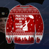 Mary Poppins KNITTING PATTERN 3D PRINT UGLY CHRISTMAS SWEATER
