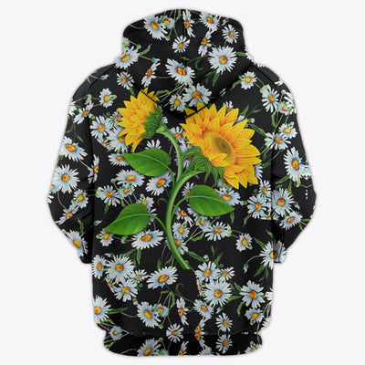 SUNFLOWER & DAISY PATTERN 3D FULL OVER PRINTED CLOTHES